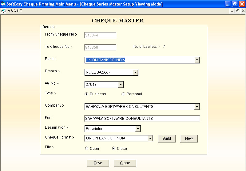 Print Cheque Receipt Payment Voucher Software