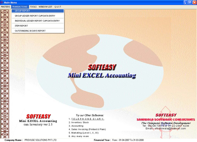 free  accounting software excel
